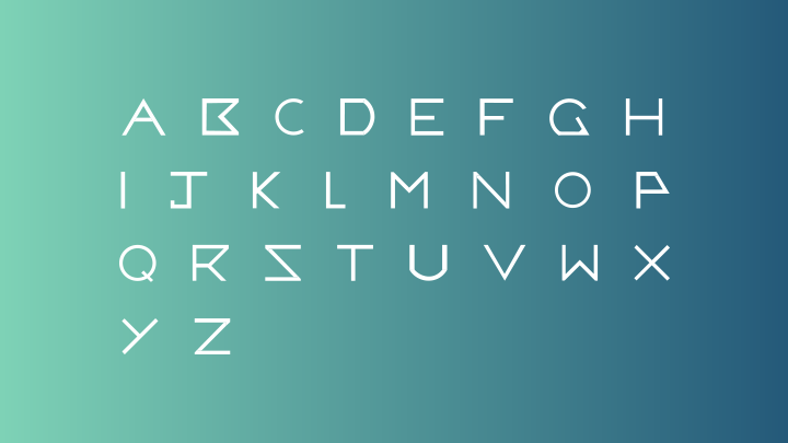 Halley Typeface Letters