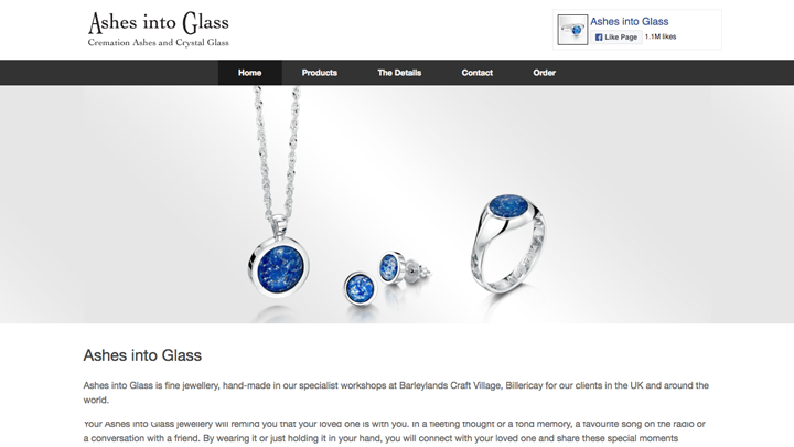 Ashes into Glass Homepage