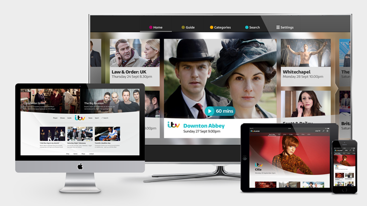 ITV Player Platform Designs
