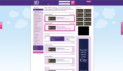 Secs in the City Site